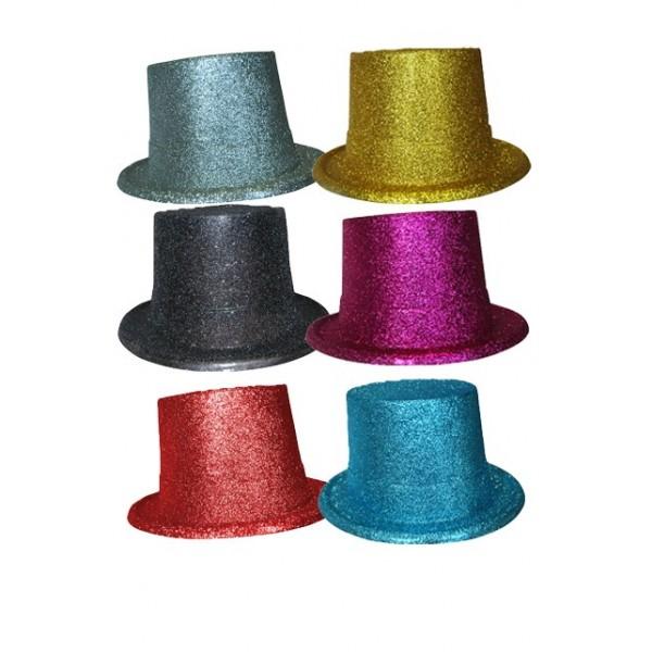 farce et attrape pas cher chapeau haut de forme paillet. Black Bedroom Furniture Sets. Home Design Ideas
